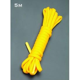 Желтая веревка для связывания - 5 м.