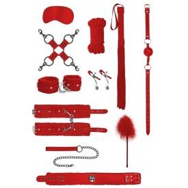 Красный игровой набор БДСМ Intermediate Bondage Kit