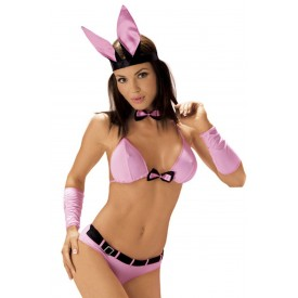 Игривый розово-черный костюм зайки Play Boy Bunny
