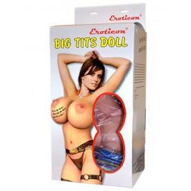 Надувная секс-кукла «Брюнетка» с реалистичной вставкой и вибрацией